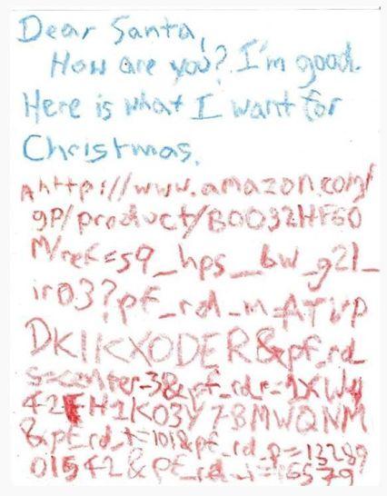 Dear Santa - letter from a little boy to Santa, he knows what he wants for Christmas - see the link to Amazon :) |  Dopis Santovi od chlapce, který přesně ví,  co chce. Všimněte si hlavně toho odkazu na Amazon :)