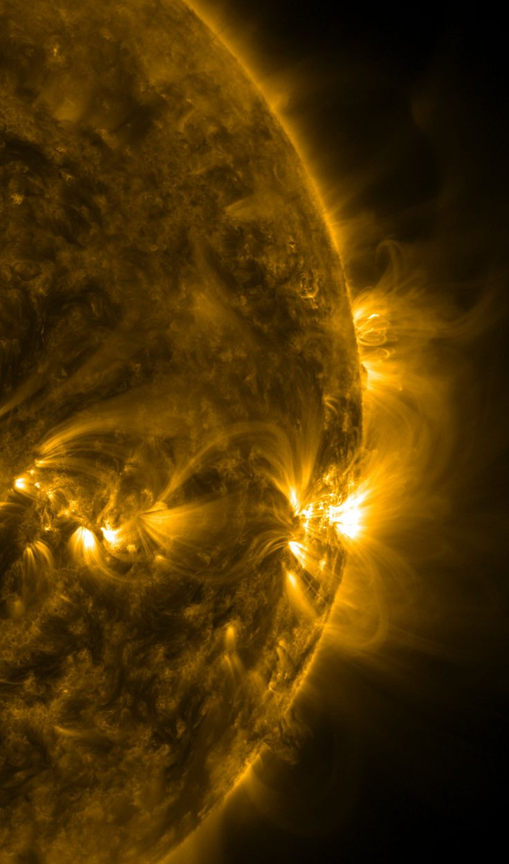 The Sun in extreme ultraviolet light, as seen by the SDO observatory in February, 2014.
