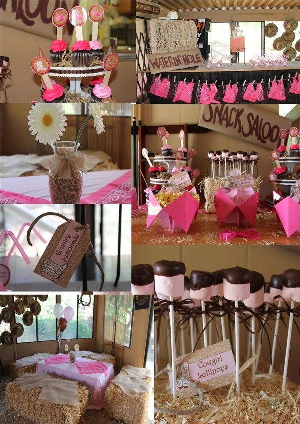 Rodeo Cowgirl Party - like the watering hole and snack saloon signs