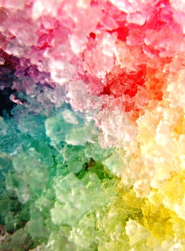 Rainbow shaved ice - pretty and yummy