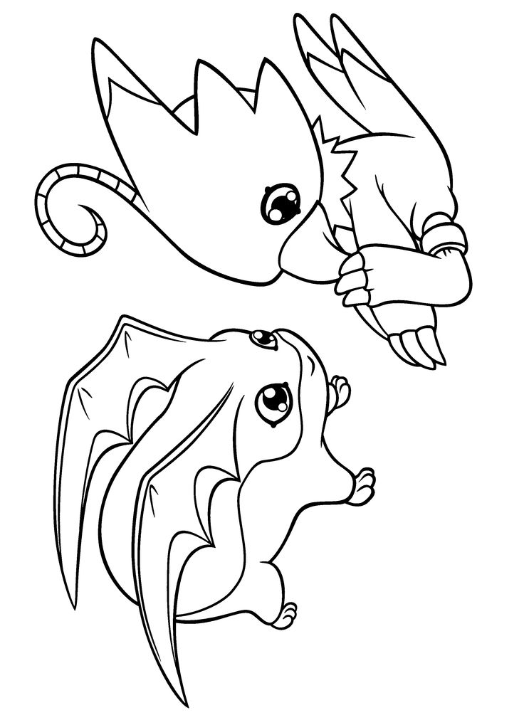 Digimon Coloring Pages 259 2400x3300