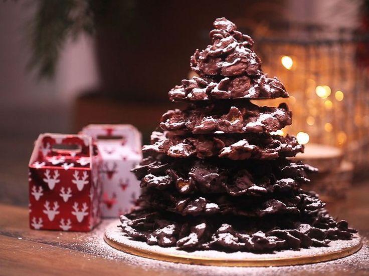 Découvrez la recette Sapin de Noël roses des sables sur cuisineactuelle.fr.