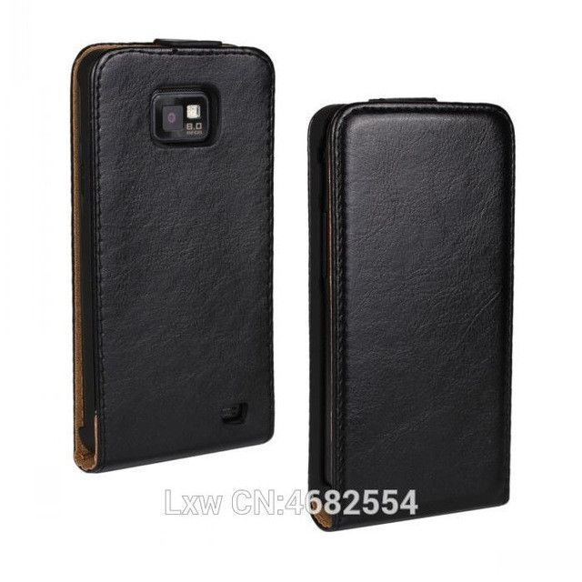 Retro Book Luxury PU Leather Case Flip Cover Phone Flip vertical cover bag For Samsung Galaxy S2 i9100 i9108 FS
