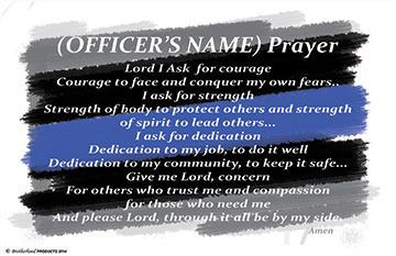 Personalized Police Officer's Prayer Poster