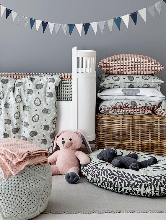 Baby sengetøy med. pinnsvin