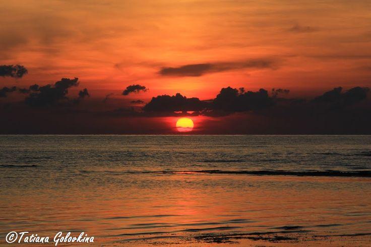 Солнце падает в Чудское озеро