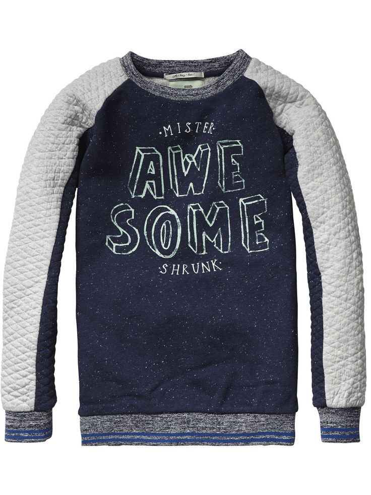 Sweater met ronde hals | Sweat | Jongenskleding bij Scotch & Soda