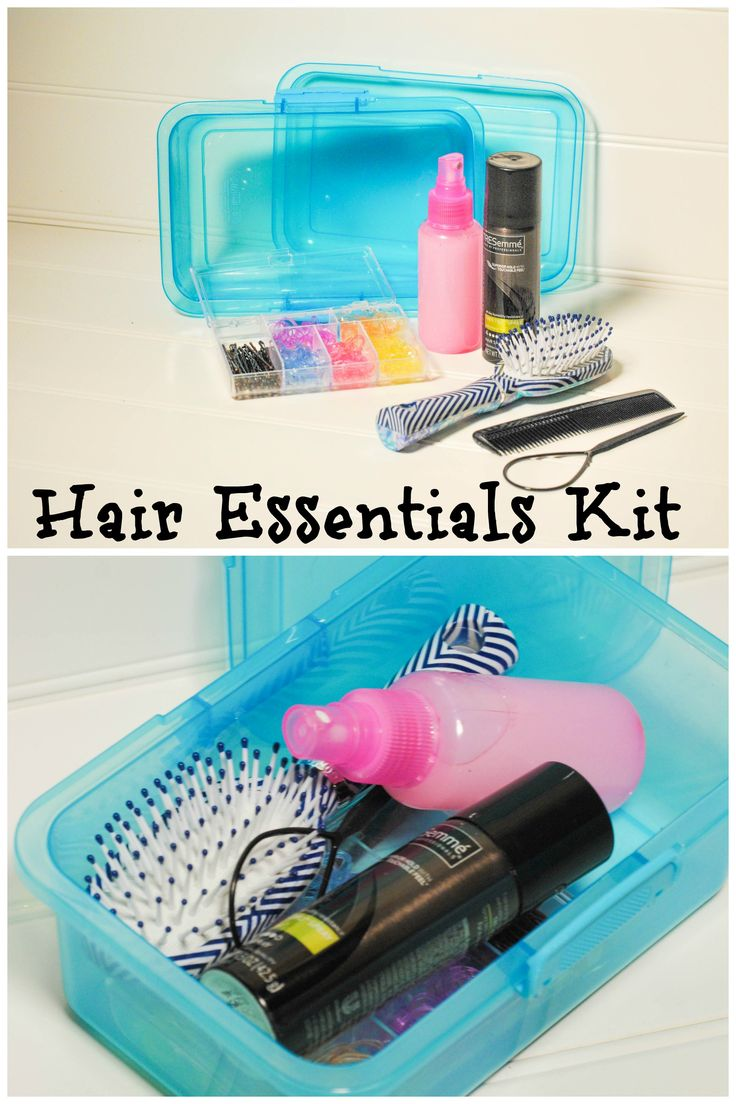 Hair Essentials Kit.  Tip for moms with little girls to save time and tantrums! Get this kit for free in a giveaway at redomom.com!! #giveaway #girls hair