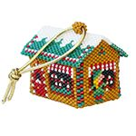 ThreadABead 3D Candy Cane Emporium Christmas Village Ornament Pattern