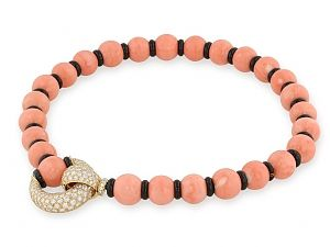 Van Cleef & Arpels Coral and Diamond Necklace in 18K