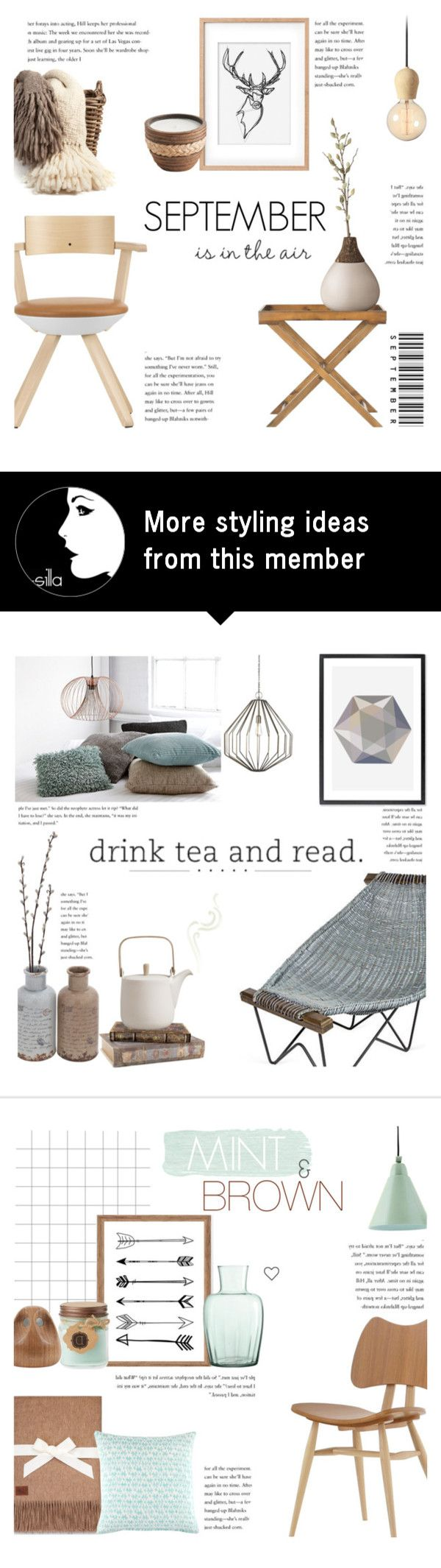 """""""September is in the Air"""" by c-silla on Polyvore featuring interior, interiors, interior design, home, home decor, interior decorating, CB2, New Rustics, Safavieh and Bloomingville"""