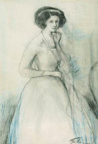 Nő hosszú ruhában