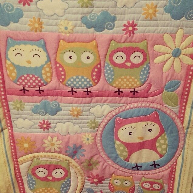Gorgeous owl cot quilt made by Zaylie_Co