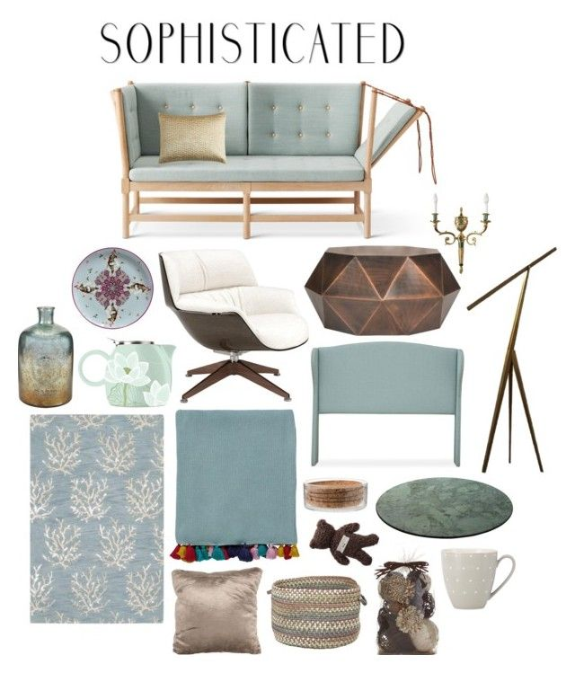 Sophisticated by perpetto on Polyvore featuring interior, interiors, interior design, dom, home decor, interior decorating, Safavieh, Surya, HARLEQUIN and Pier 1 Imports