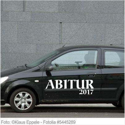Autoaufkleber und Sticker ABITUR 2017