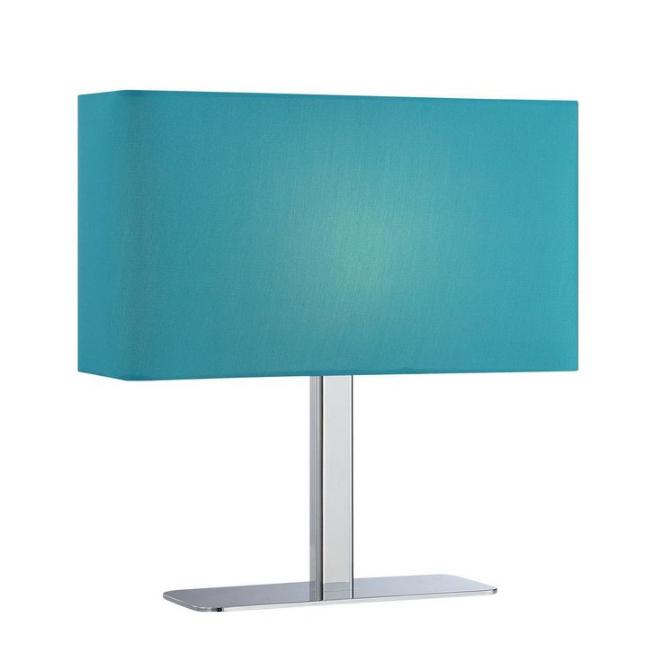 Lite Source LS 21797C BLU Levon 1 Light Table Lamp In Chrome With Blue