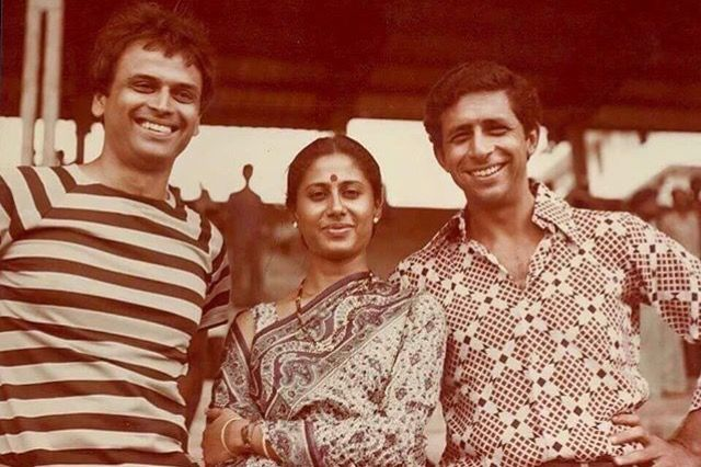 Vikram, Smita Patil and Naseeruddin Shah