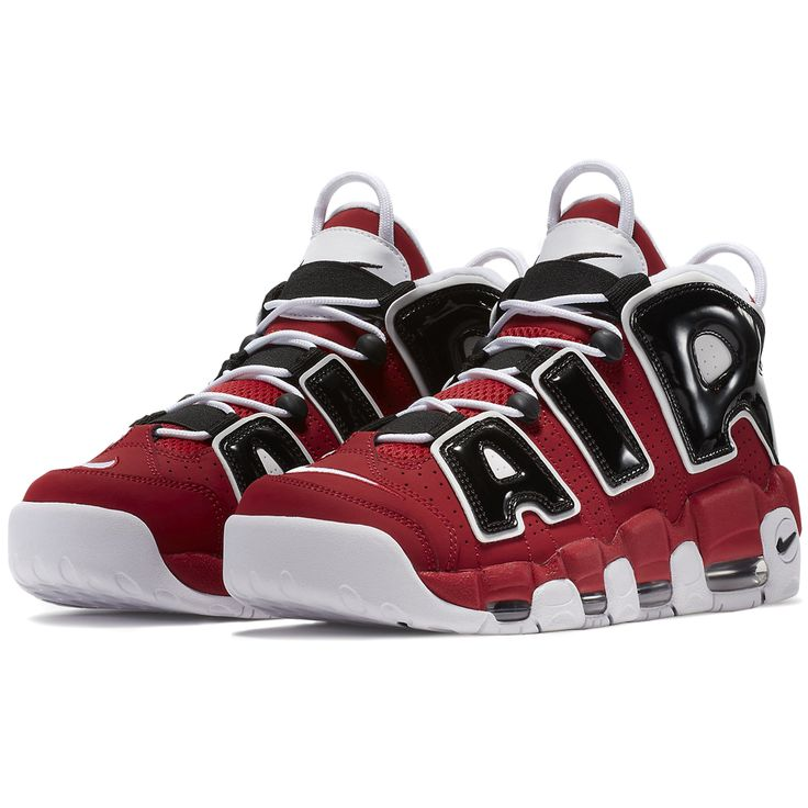 Official images and purchase information for the Nike Air More Uptempo 96  Spirit of 96 colorway (style inspired by the Chicago Bulls.