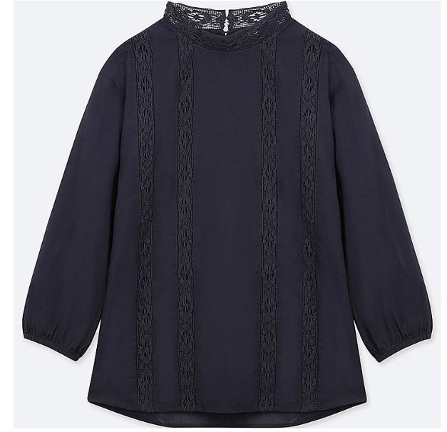 Uniqlo-cotton lace blouse