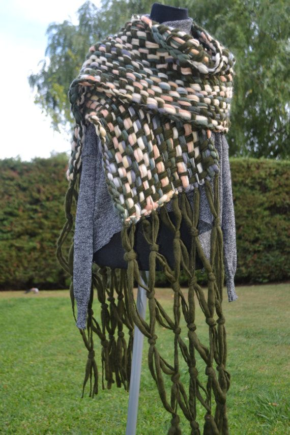 Stole/Hand woven Shawl /hand woven  Wrap / hand knit  by Cozyyarn