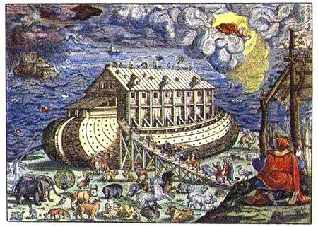 BIBLE ILLUSTREE 1570 NOAH S ARK