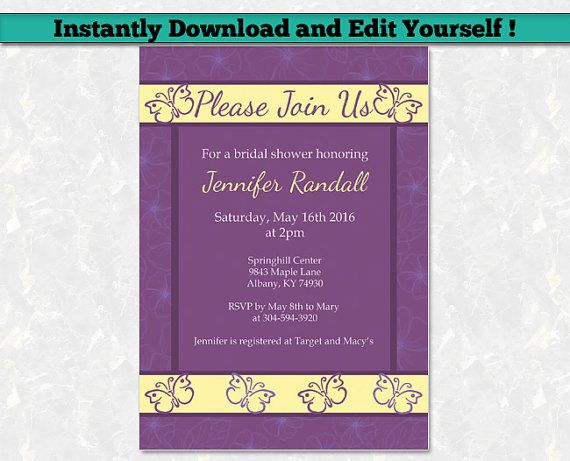 12 best Editable Baby Shower Invitation Templates images on - bridal shower invites templates