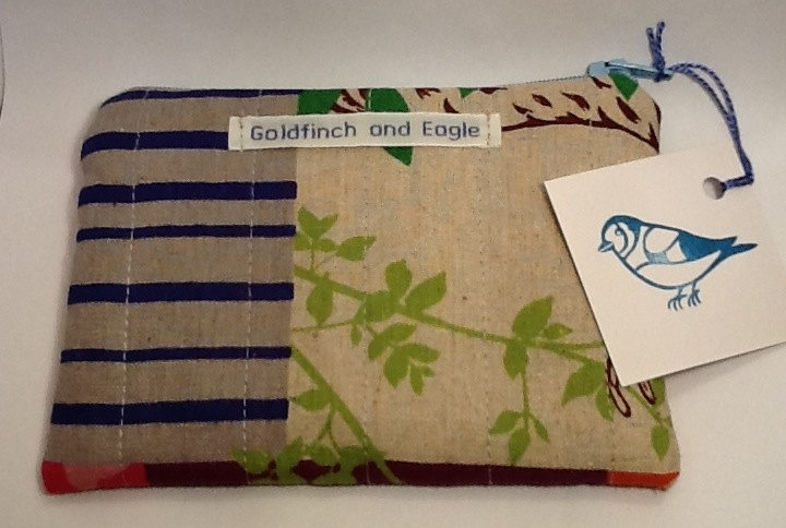 Colourful Japanese Echino fabric Zip Purse/Pouch