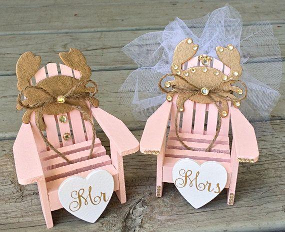 Beach Wedding Cake Toppermini Adirondack Chair Setbeach