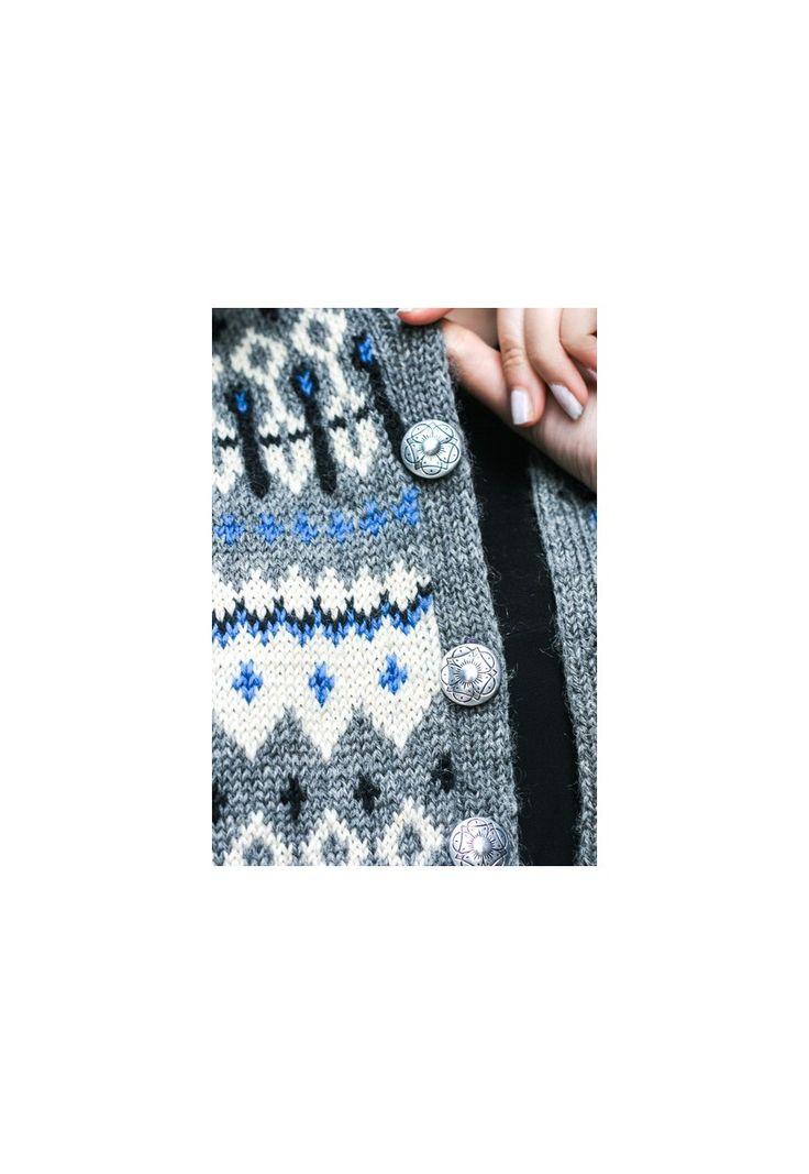 Vintage Grey Wool Patterned Cardigan | Clotho London | ASOS Marketplace