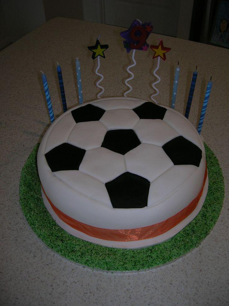 Soccer cake for 9th Birthday
