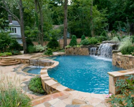 Beautiful backyard pool and design pools patio 39 s and for Above ground pool decks tulsa