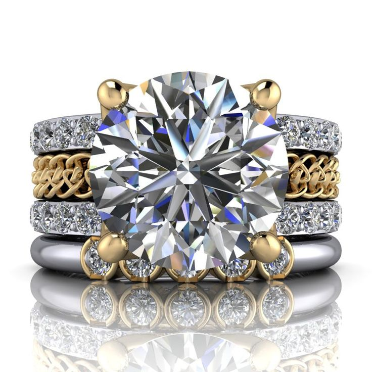 Insieme bridal stackables 310 ct engagement ring and