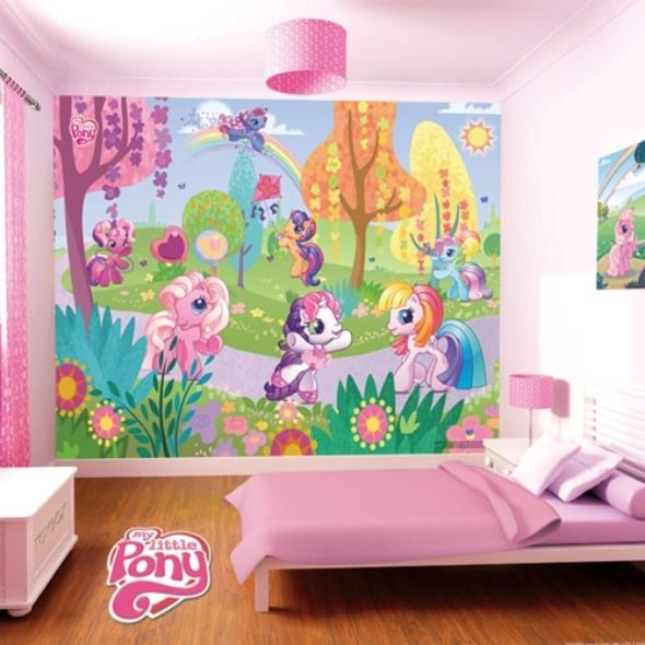 67 best images about my little pony room on pinterest for Kids room wall paper