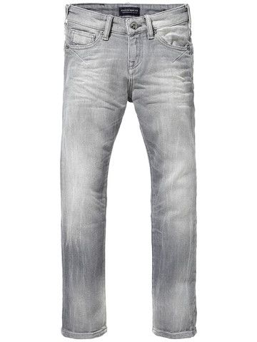 Scotch Shrunk Strummer Plus Jeans in Stone Grey Denim
