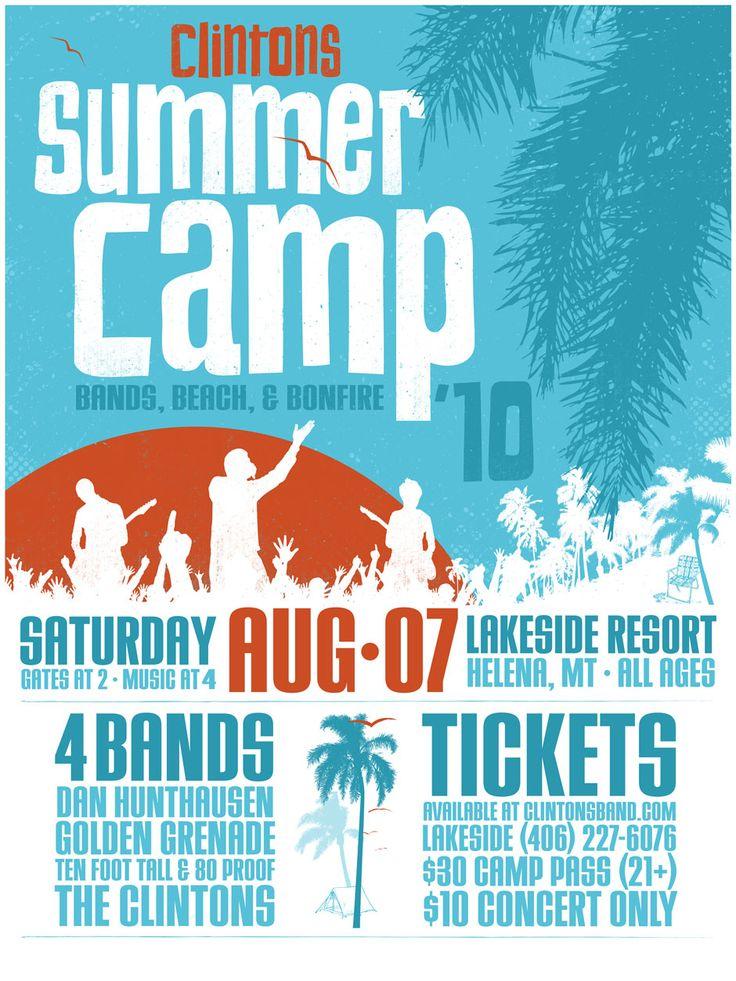 Best Summer Camp Poster Images On   Graph Design