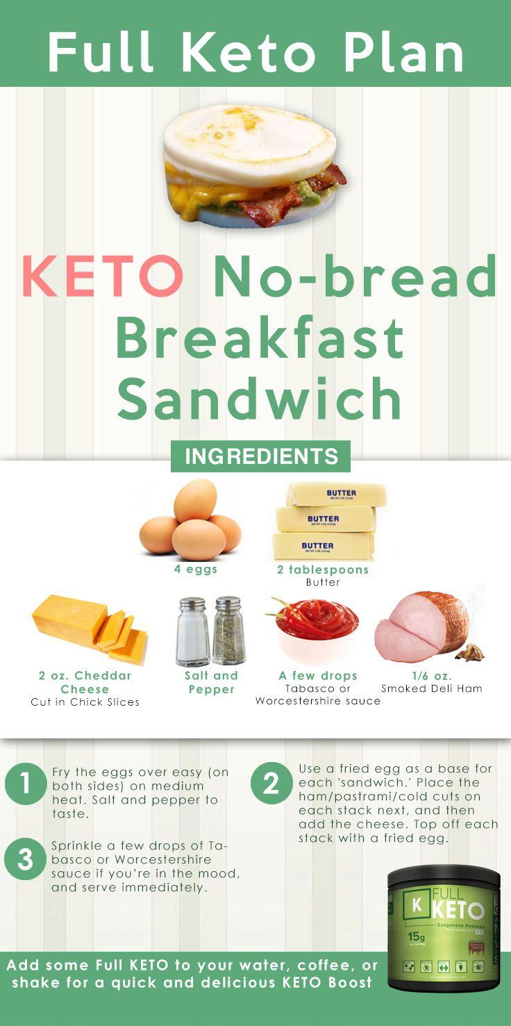 Keto No-bread Breakfast Sandwich   Recipe   Breakfast ...