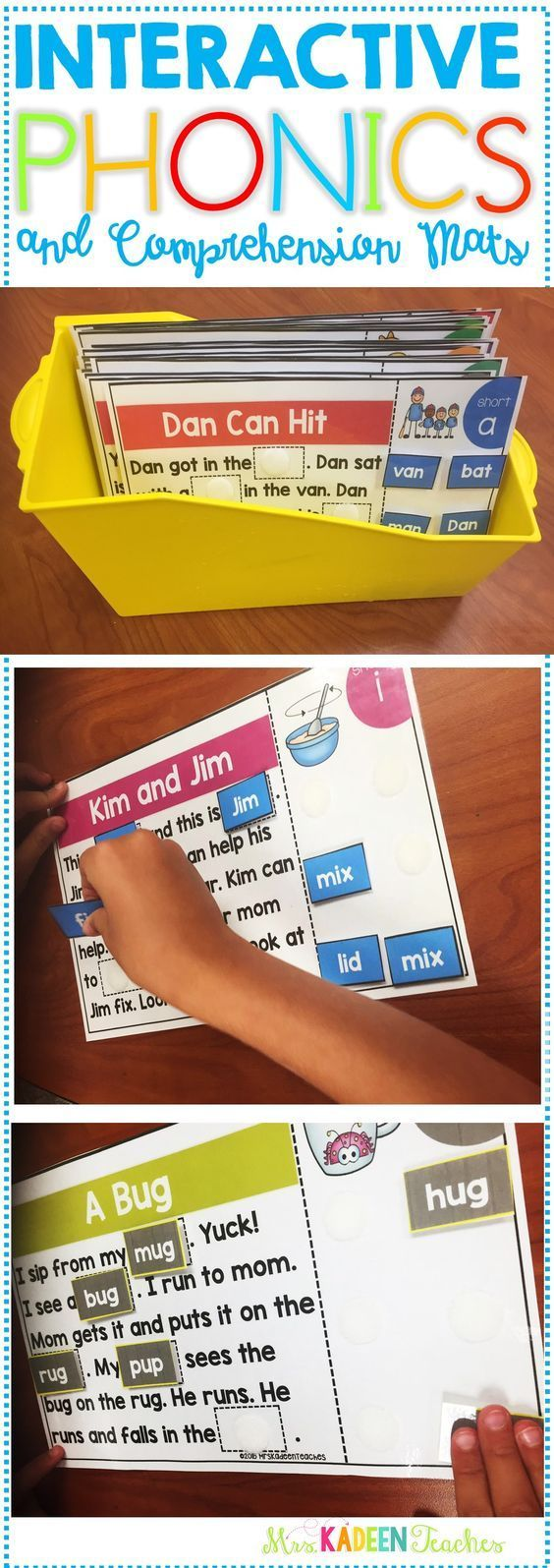 Phonics mat super bundle will be a hit with students. Test comprehension skills and add an hands on approach to reading. Students find the correct words to complete the simple stories . This super bundles includes stories for the whole year !