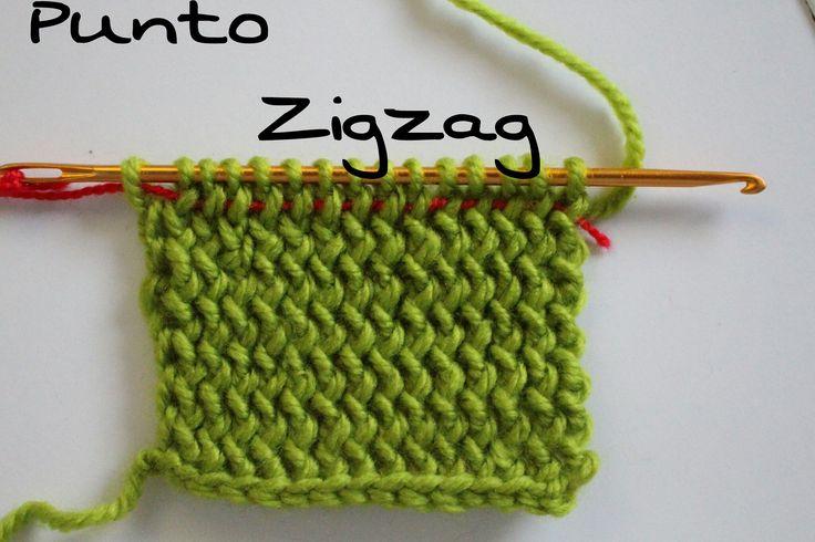 Punto Zigzag paso a paso ( Crochet ) Agujas # KNOOKINS #
