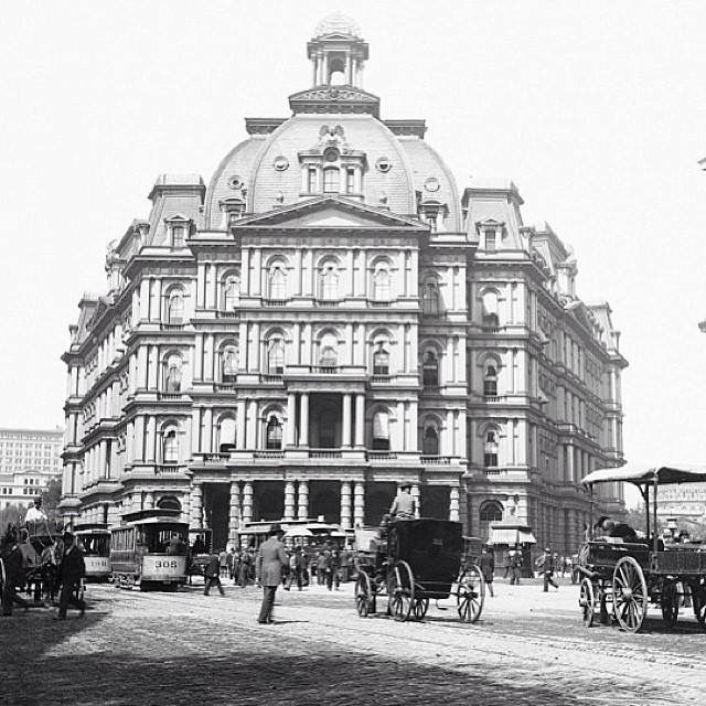New York City Hall Post Office, built 1878, demolished 1939.