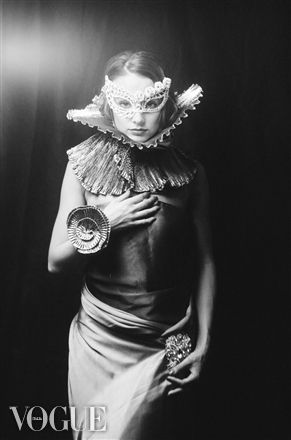PhotoVogue..Venita's mysterious corsage B&W Traditional film Model:Miss Votta Crystal .  Francis A Willey