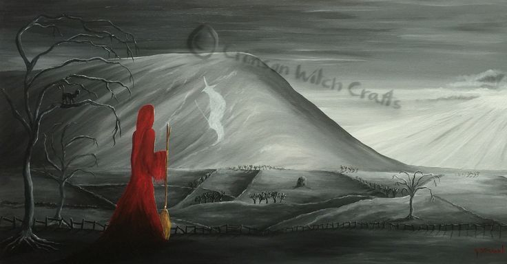 Pendle's witch painting