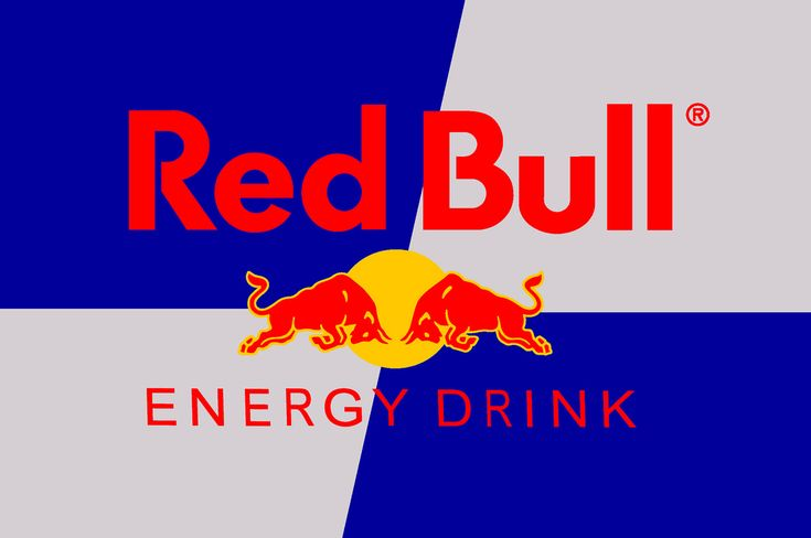 De branding van Red Bull maakt gebruik van alle drie de primaire kleuren. Zowel het rood van de letters op het blauw werkt goed, als het rood van de stieren op de gele stip
