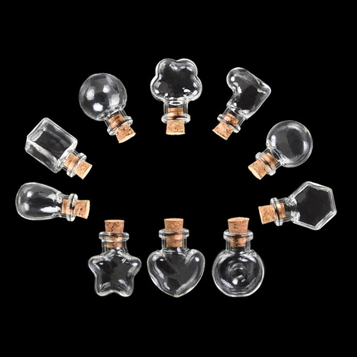 100pcs Mini Glass Bottles Pendants Diy Necklace Pendant Bottles Corks for Wedding Gift Jars Vials Festival Jewelry Free Shipping