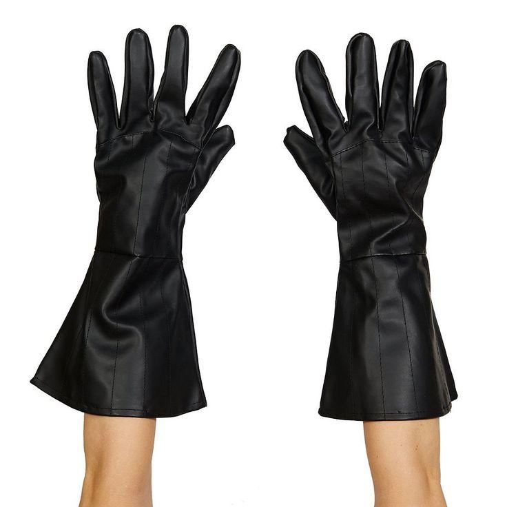 Adult Star Wars Darth Vader Faux-Leather Costume Gloves, Men's, Black