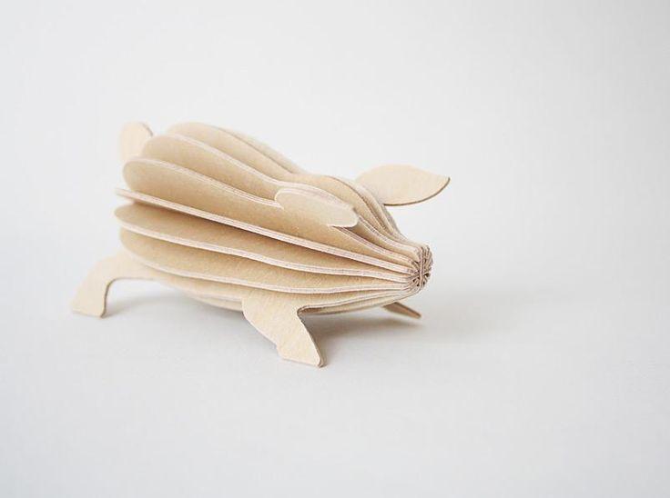 Lovion Merchant_4: flatpack piggie postcard