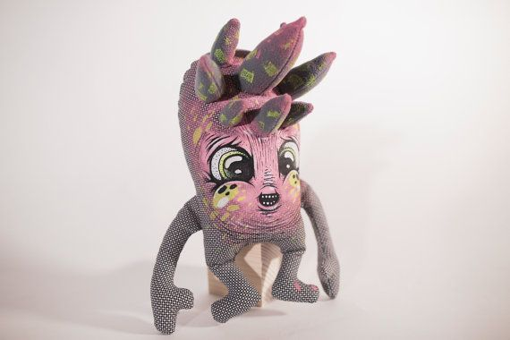 Overachiever Unicorn Monster- Eyecandy Monsters / MyCuteCreatures Collab -  Stuffed Soft Toy - Collectable