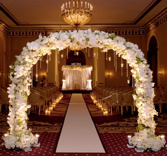decorations inspired wedding theme indoor wedding ceremony arch