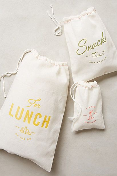Muslin Snack Sacks