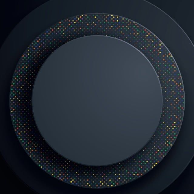 Black Circle Abstract Background With Colorful Glitters Circle Geometric Paper Shapes 3d Abstract Backdrop Png And Vector With Transparent Background For Fre Colorful Glitter Geometric Background Graphic Design Background Templates