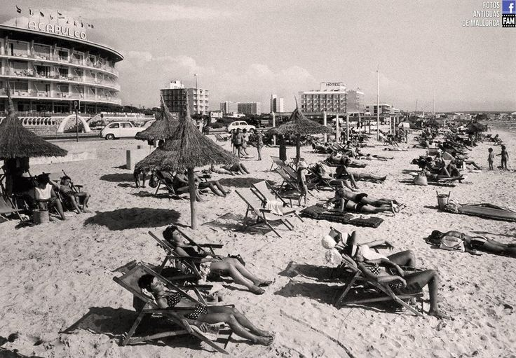 Hamacas sesenteras hotel acapulco playa de palma - Hamacas de playa ...